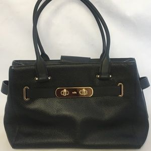 36488 COACH Swagger Carryall Leather Satchel